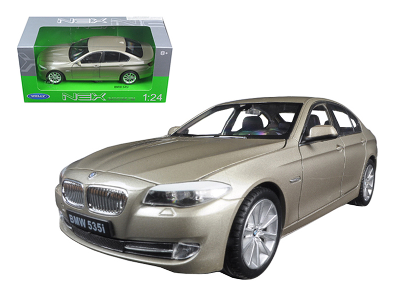 2010 BMW (F10) 535i 5 Series Gold 1 24 Diecast Model Car by Welly by Welly