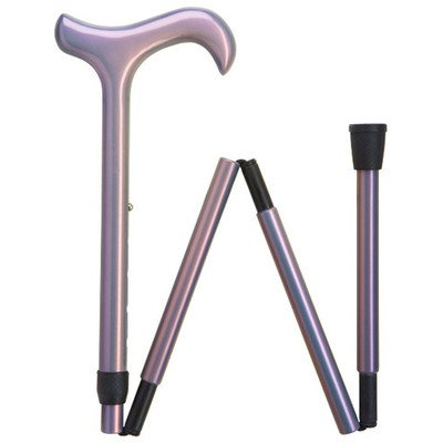 "Harvy Canes - Ladies Carbon Fiber Folding - Triple Wound - Walking Cane - 33""-37"" - Black"