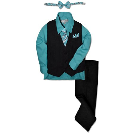 Johnnie Lene Boys Formal Pinstripe Dresswear Vest Set JL40](Baby Boy Dress Up Clothes)