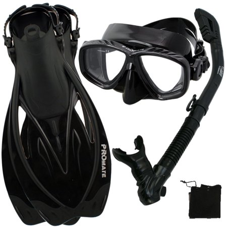 Snorkel Fins Mask Set for Snorkeling Scuba Diving, AB-SM