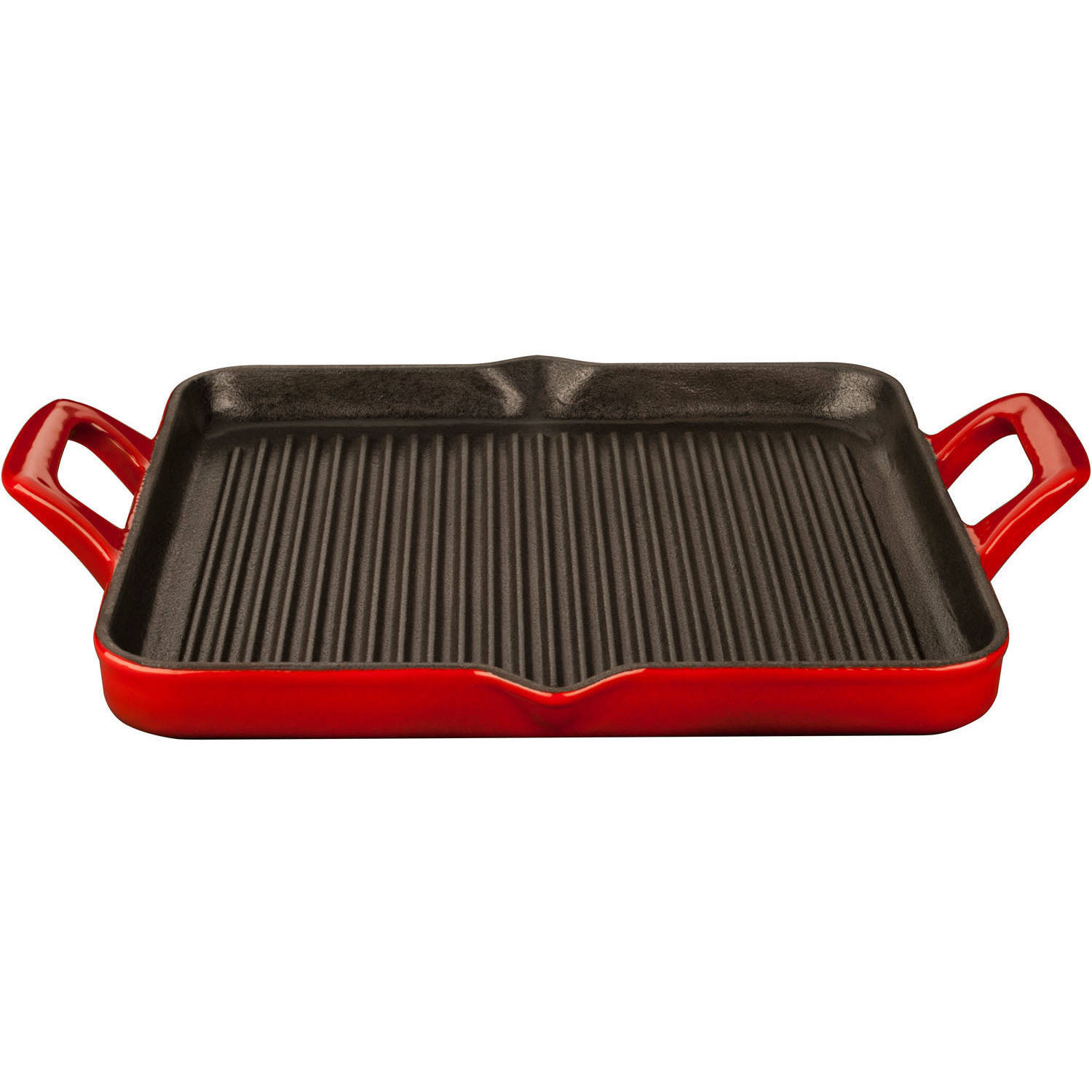 La Cuisine LC 7185 Rectangular 1-Quart Cast Iron Grill Pan with Enamel Finish