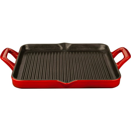 La Cuisine Lc 7185 Rectangular 1 Quart Cast Iron Grill Pan
