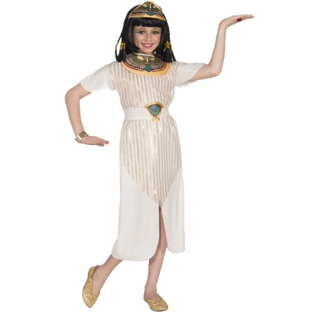 Child's Girls Egyptian Queen Of The Nile Cleopatra Dress Costume