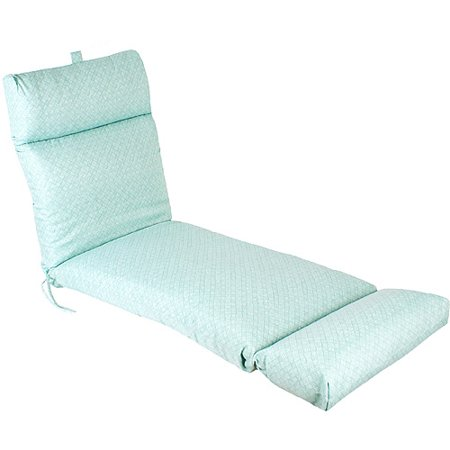 Haven aqua french edge chaise lounge cushion for Aqua chaise lounge cushions