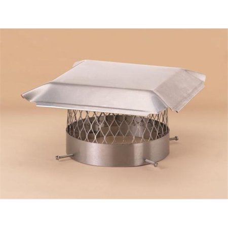 Lindemann 151010 Hy-C 10 Inch Stainless Steel Round Chimney (Steel Chimney Cover)