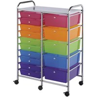 Alvin Storage Cart 15-Drawer (Standard and Deep) Multi-Colored