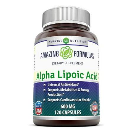 Amazing Formulas Alpha Lipoic Acid 600 Mg 120 Capsules Alpha Lipoic Acid Cosmetics