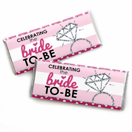 Bride-To-Be - Candy Bar Wrappers Bridal Shower & Classy Bachelorette Party Favors - Set of 24