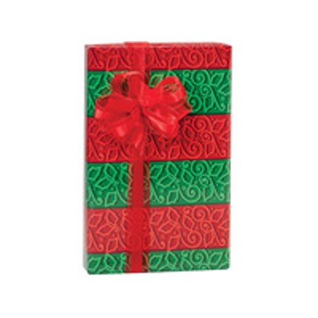 Green and Red Holly Stripe Holiday /Christmas Gift Wrapping Paper 16ft (Christmas Gift Wrapping Paper)