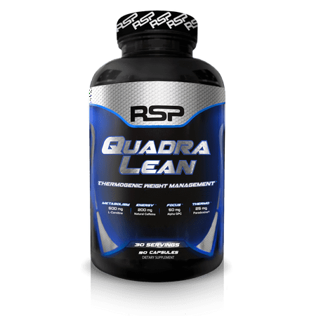RSP QuadraLean Thermogenic Fat Burner for Men & Women, Weight Loss, Appetite Suppressant, 90 Ct