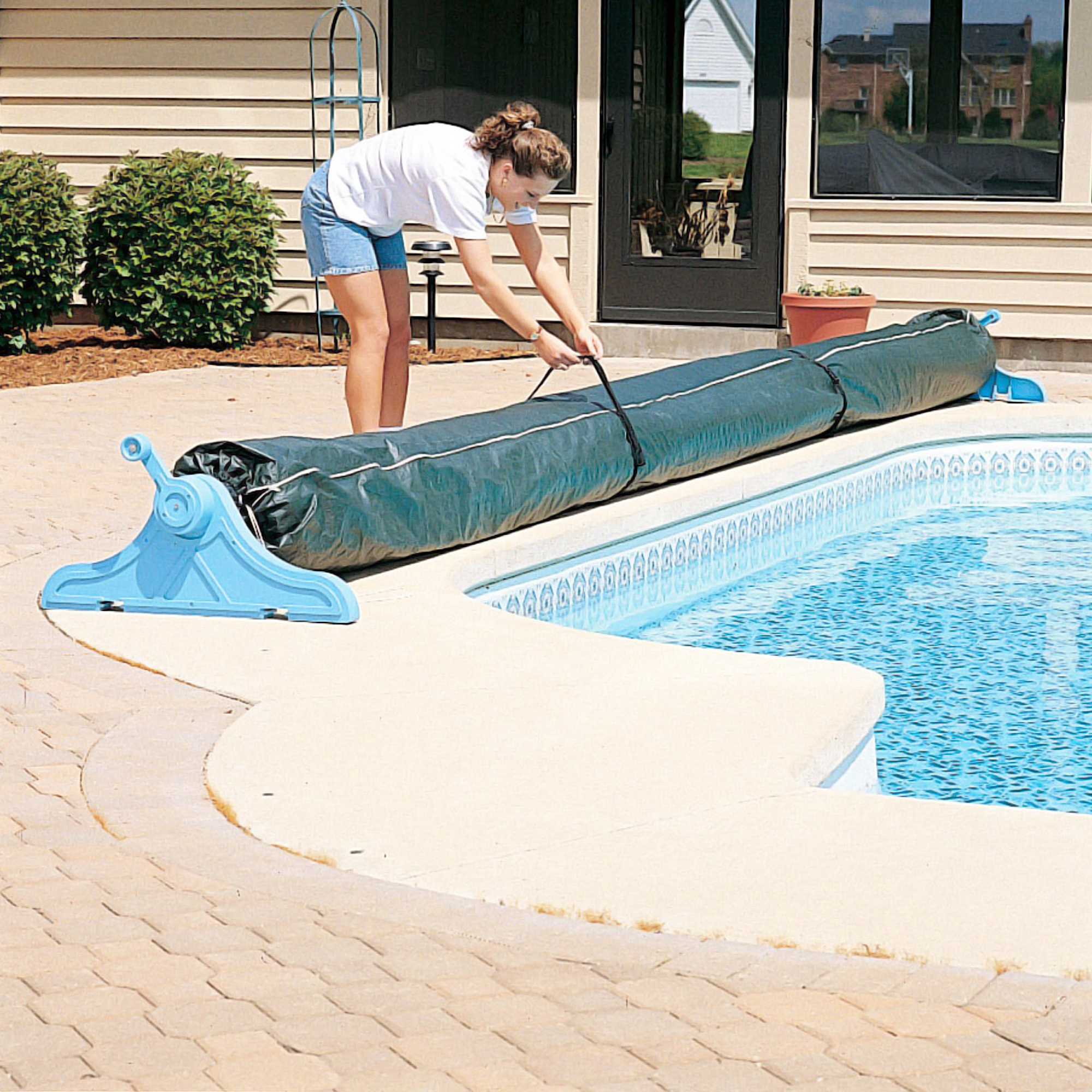 18 ft. Winter Cover for Pool Solar Reel and Blanket ...