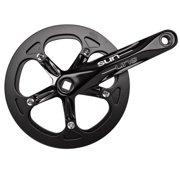 Sun Bicycles Crank, Steel Ring Alloy Arm, 170x46, Black