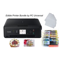 PC Universal Edible Printer Designer Pack-Includes All-in-One Cake Printer with 2 Sets Edible Cartridges, 50 Sheets Wafer Paper and 10 Sheets Frosting Sheets