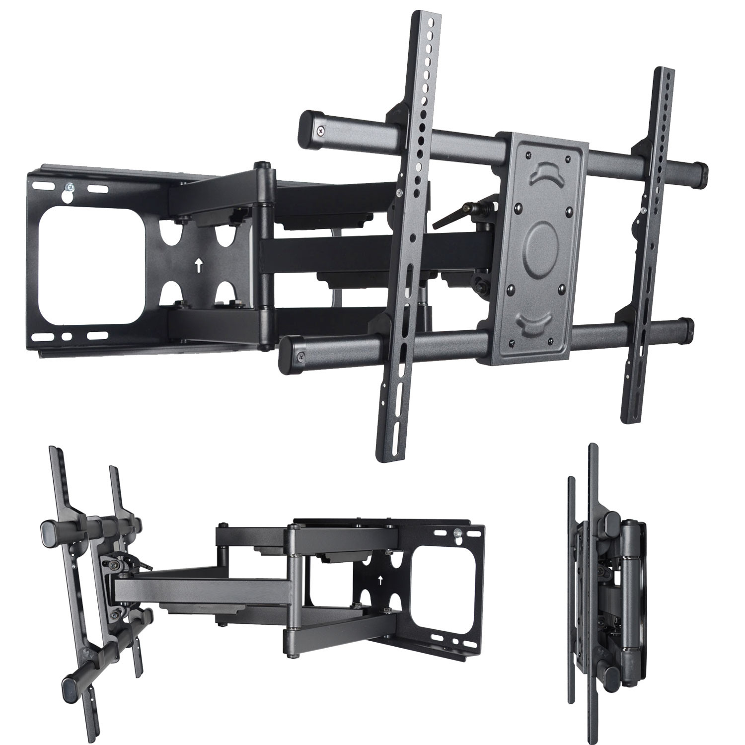 "VideoSecu Articulating TV Wall Mount for most 39-70"" LCD LED Plasma HDTV UHD Display Heavy Duty Tilt Dual Arm MW390B B0Z"