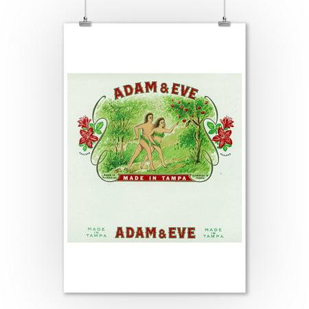 Adam and Eve Brand Cigar Box Label (9x12 Art Print, Wall Decor Travel - Adam Eve Discount Codes