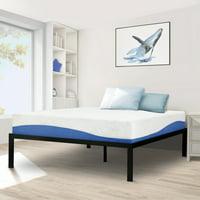 GranRest 16'' High Profile Metal Bed, Queen