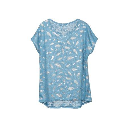 Smoke Womens Tee (catalog classics women's metallic accents t-shirt - embellished fashion tee)