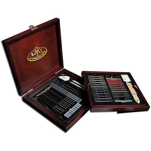 Royal & Langnickel Pencil Box Sketching Set, 51pc
