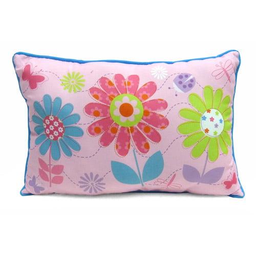Mainstays Kids' Decorative Pillow, Daisy Floral