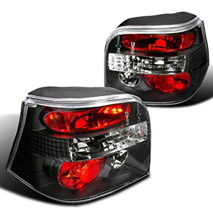 Spec-D Tuning LT-GLF99JM-TM Volkswagon Golf Gl Gls Gti Vr6 Hatchback Black Tail Lights