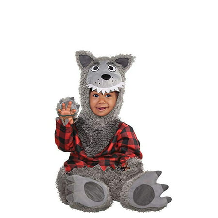 Amscan Baby Wolf Halloween Costume for Infants, 12-24 Months, with Included Accessories