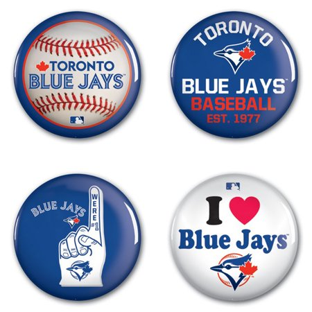 Toronto Blue Jays WinCraft 4-Pack Buttons - No Size