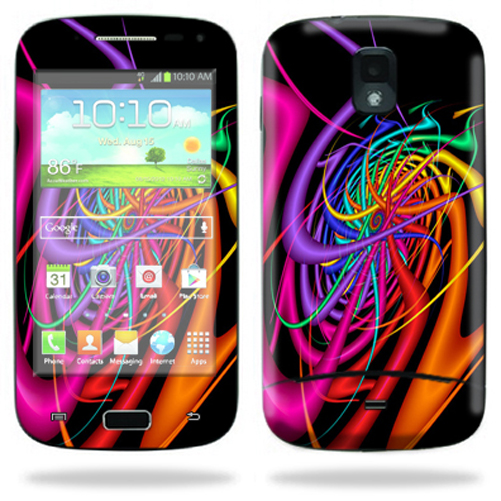 Mightyskins Protective Skin Decal Cover for Samsung Galaxy S Relay 4G T699 Cell Phone T-Mobile wrap sticker skins Color Invasion