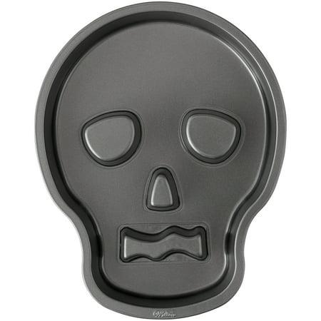 Wilton Skull Shaped Cake Pan, 9.5 x 12 Inch](Halloween Shaped Cake Pans)