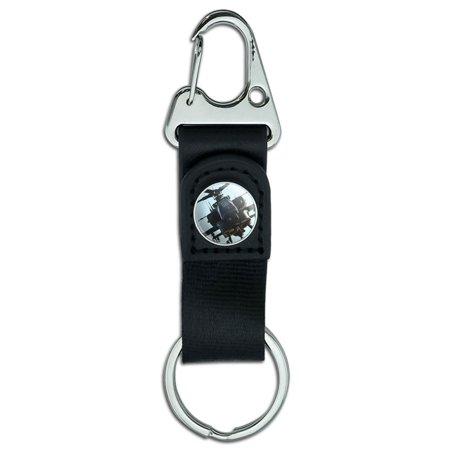 Apache Helicopter Belt Clip Carabiner Keychain (Keychain Belt Clip)