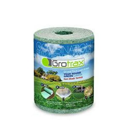 As Seen On TV Grotrax Patch N Repair Year-Round Green Grass Seed Mixture Mat Roll for Lawn Spots, High Traffic Areas and Lawn Repairs | Winter Resistance and Drought Tolerant, 20