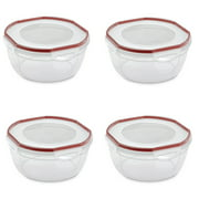 Sterilite Ultra Seal 4.7 Qt Plastic Food Storage Bowl Container w/ Lid (4 Pack)
