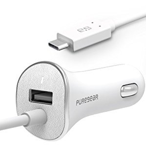 Pure Gear 10875vrp Usb A To Usb C Car Charger White Walmart Com