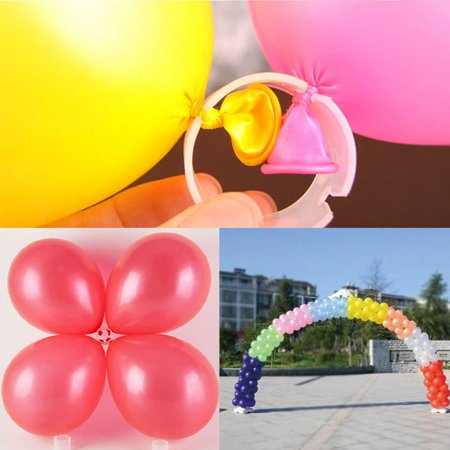 The Elixir Party, Pack of 50 Decorative Decor Balloon Rings Buckle Balloon Arch Folder Convenient Clip Connector Multiple Accessories (Balloon Clip only)