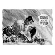 Gone With The Wind Bw Poster Pillow Case White One Size