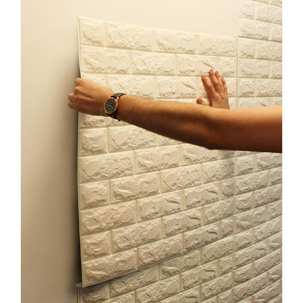 5 Pack 3d White Brick Wallpaper Self Adhesive Wallpaper Home Decal Faux Foam Real Bricks Effect Wall Panels Room Decal Walmart Com Walmart Com