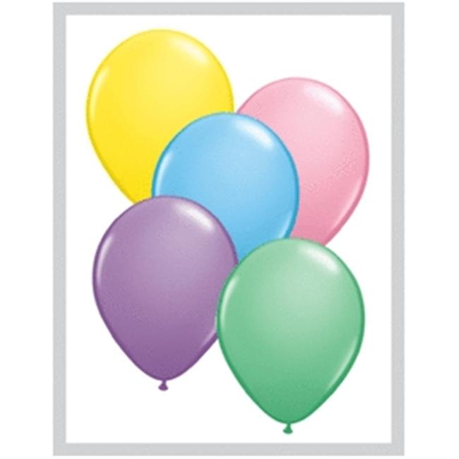 Mayflower Balloons 6621 11 Inch Pastel Assortment Latex Pack Of 100
