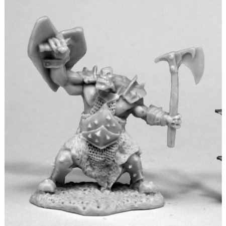 Orc Slayer Axe And Shield Miniature 25mm Heroic Scale Bones Reaper Miniatures