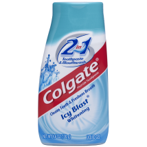 Toothpaste: Colgate 2-in-1