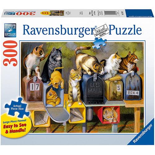 Ravensburger Cat's Got Mail Large Format Puzzle, 300 Pieces