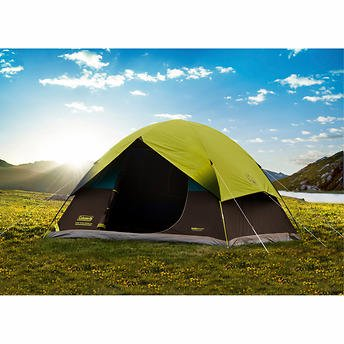 Coleman 6 Person Dark Room Fast Pitch Dome Tent