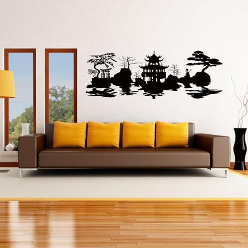 Style and Apply Asian Harmony Vinyl Wall Art