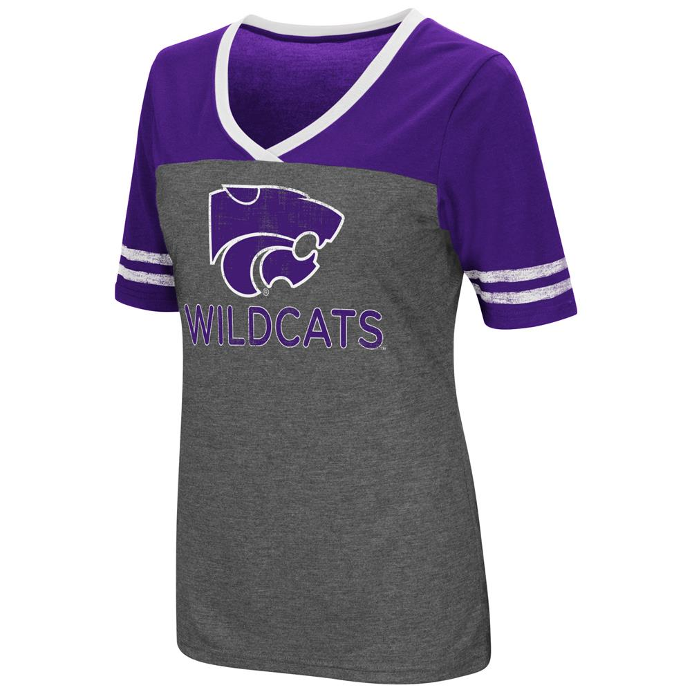 Ladies Colosseum Mctwist Kansas State University Jersey T Shirt