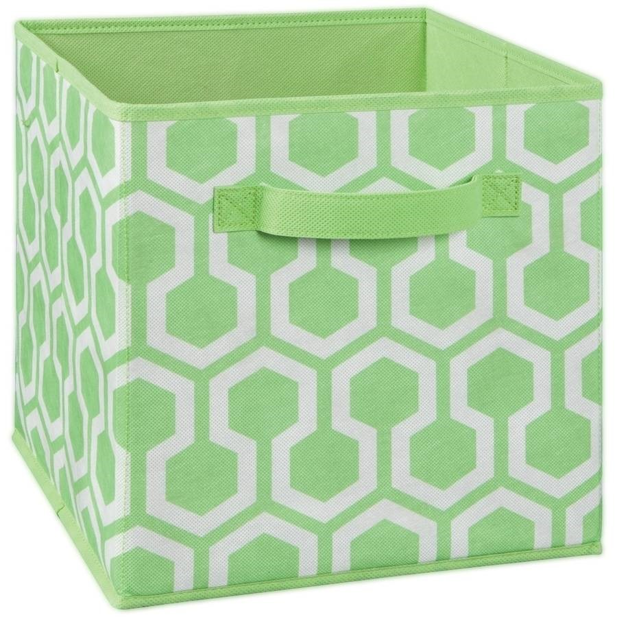 ClosetMaid Fabric Drawer, Green Hexagon