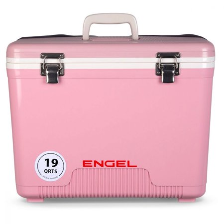 Engel 19 Quart Fishing Bait Dry Box Ice Cooler with Shoulder Strap,