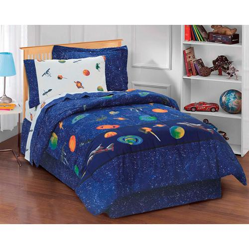 Galaxy Space Cotton/Polyester 6-piece Bed in a Bag with Sheet Set Full