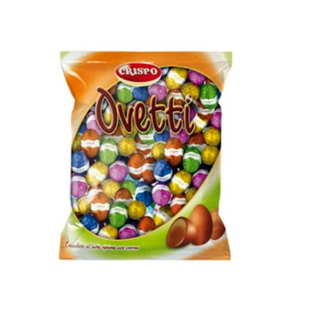 Crispo, Milk chocolate eggs hazelnut cream filled (1 Lbs) ()