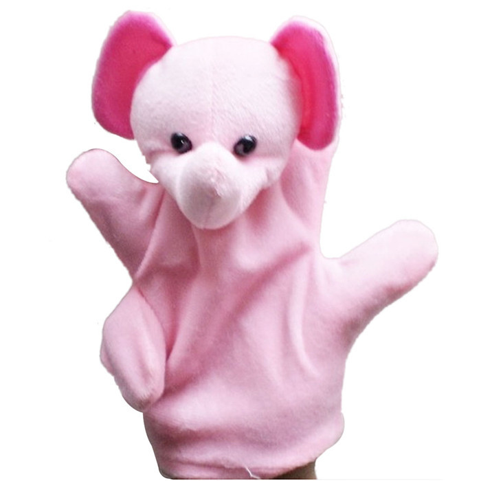 Mosunx Baby Child Zoo Farm Animal Hand Glove Puppet Finger Sack Plush Toy
