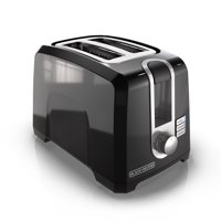 BLACK+DECKER 2-Slice Extra Wide Slot Toaster, Black