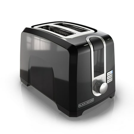 BLACK+DECKER 2-Slice Extra Wide Slot Toaster, Black, (Black And Decker 2 Slice Toaster Review)