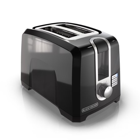 BLACK+DECKER 2-Slice Extra Wide Slot Toaster, Black,